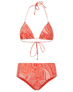 Cropped cashmere wide-leg trousers