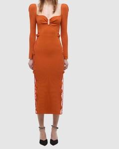 Lace Knit Midi Dress