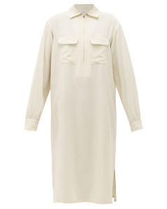 Zipped muslin shirt dress
