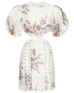 Tab stretch-cotton minidress