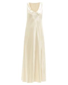 Natasha scoop-neck satin dress
