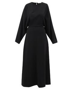 Cobai panelled silk and crepe maxi dress