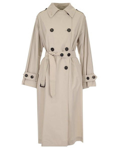 WOMEN'S 90210317600152001 WHITE OTHER MATERIALS COAT