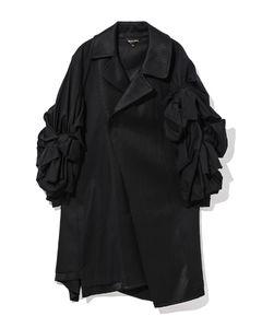 Gathered panelled coat