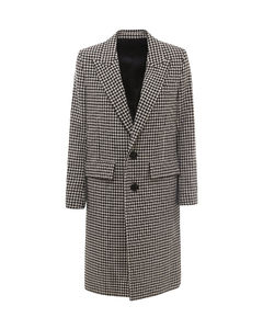 Houndstooth Single-Breasted Coat