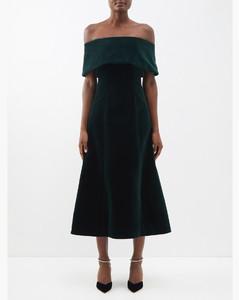 Sequin and eyelet-embellished crepe dress