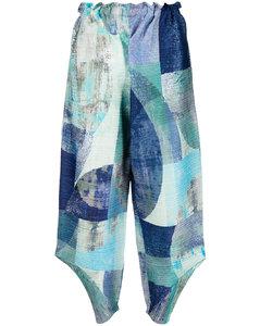 金属感高腰裤装