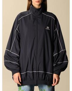 nylon oversized jacket with BB logo