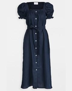 Brigitte亚麻长连衣裙