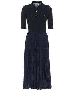 Wool and silk midi dress