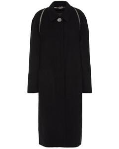 Woman Zip-detailed Wool-felt Coat