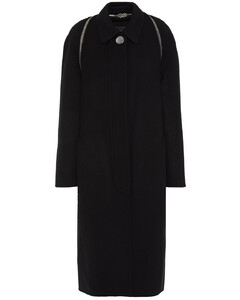 Woman Zip-detailed Wool-felt Coat