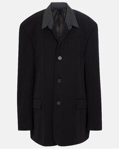 大廓形斜纹布西装式外套