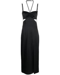 Slash cream stretch-knit top