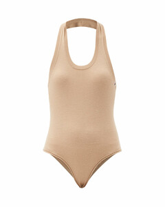 No.137 Swim halterneck stretch-cashmere bodysuit