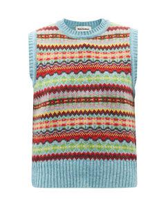 Bibi Fair-Isle lambswool sleeveless sweater