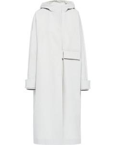 tech poplin coat