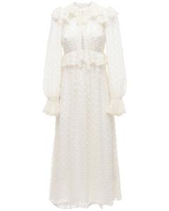 Chiffon Jacquard Midi Dress