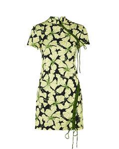 Asymmetrical nylon skirt