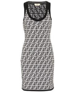 x Joshua Vides FF knit minidress