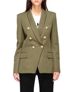 double-breasted jacket with jewel buttons