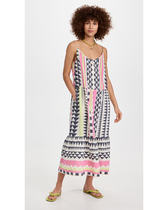 Mix Viscose Dress In Red