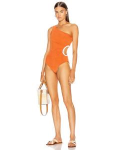Sunset Felucca Sailing One Piece Swimsuit in Orange