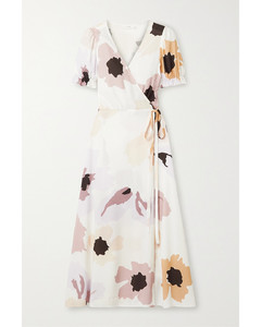 Soirée花卉印花梭织裹身连衣裙