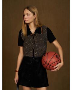 Ibiza embroidery-print metallic-silk coat