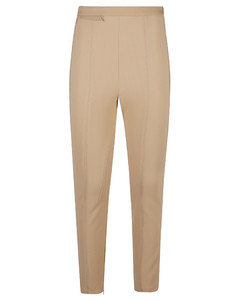 Smocked chambray midi dress