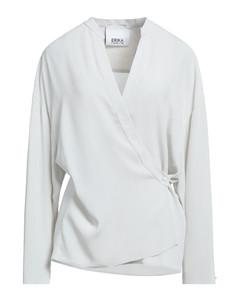 灰色扭褶连衣裙