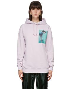 紫色Dog Patch有机棉连帽衫