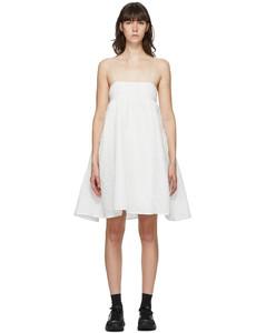 白色Lisbeth抹胸吊带连衣裙