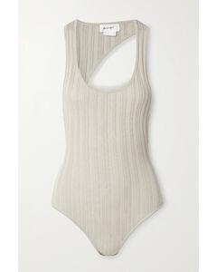 Isaura Open-back Ribbed-knit Bodysuit