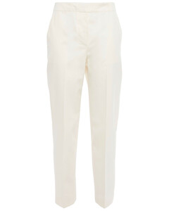 Woman Cropped Cotton-twill Tapered Pants