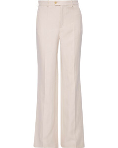 Kosta ramie and cotton-blend twill bootcut pants