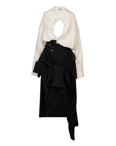 Burgundy gown-style coat