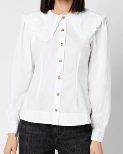 Women's Cotton Poplin Shirt - Bright White