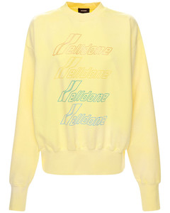 Iridescent Logo Cotton Blend Sweatshirt