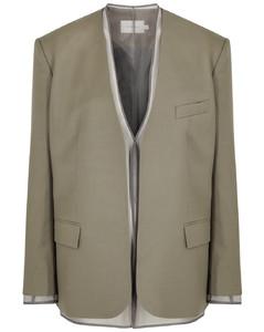 Olive layered wool blazer