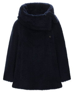 Fiacre Fur Effect Wool Blend Cape