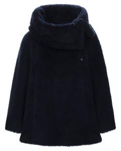 Fiacre Fur Effect Wool Blend Cape