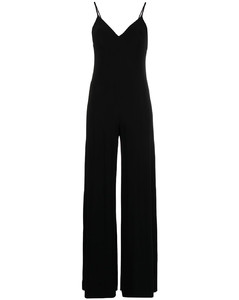 Lace-paneled crêpe dress