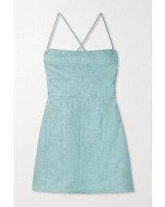 Karsten Open-back Linen Mini Dress