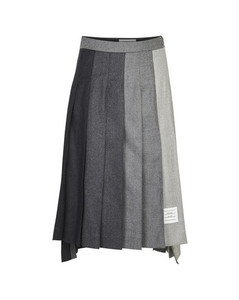 Super 120 pleated skirt