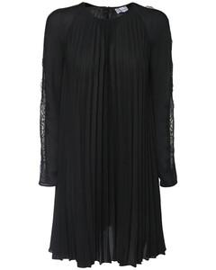 Pleated Double Georgette Mini Dress