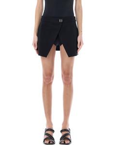绗缝中长半身裙