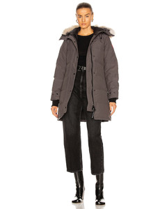 Shelburne Parka with Coyote Fur in Gray