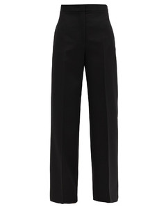 Nicholas high-rise wool wide-leg trousers