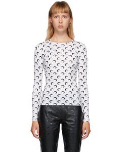 白色&黑色Moon Allover长袖T恤